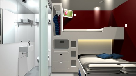 snoozebox interior space design