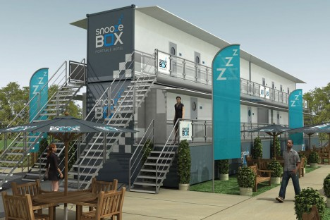 Snoozeboxes Mobile Container Hotels Travel By Truck Or