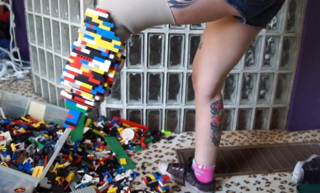 strange LEGO prosthetic leg