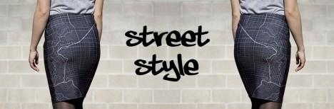 street style map skirt