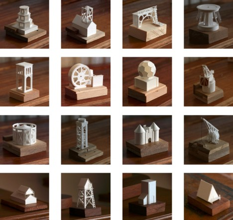 tiny architectural crafted models