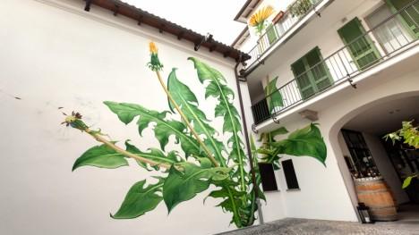 weed corner illustration painting