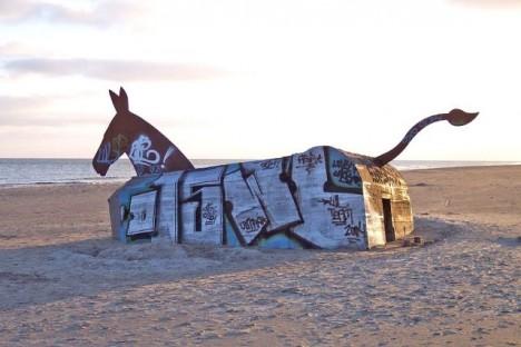 abandoned art equine bunker
