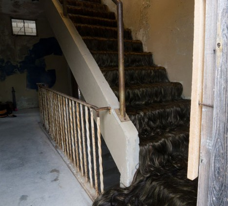 abandoned art hairy stairs