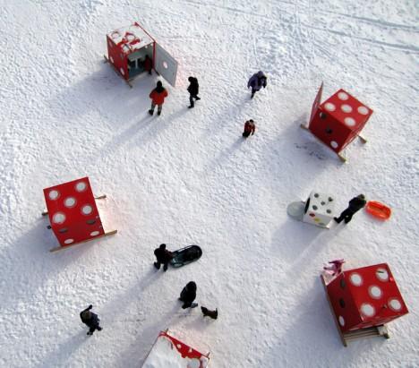 art shanty ice dice