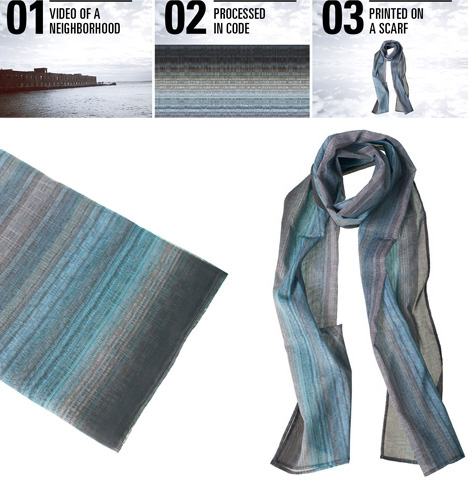 cityscape neighborhood scarves