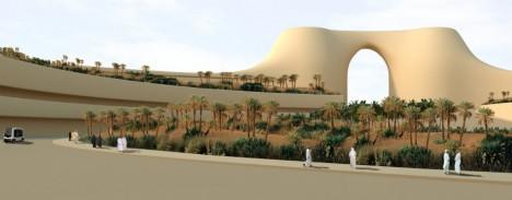 desert city concept rendering