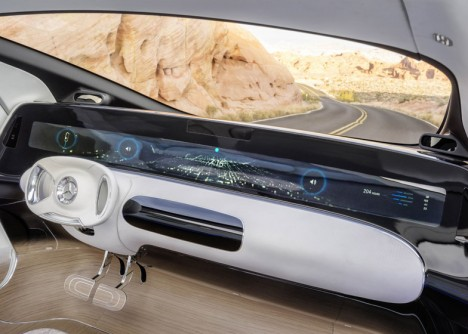 driverless car dash board
