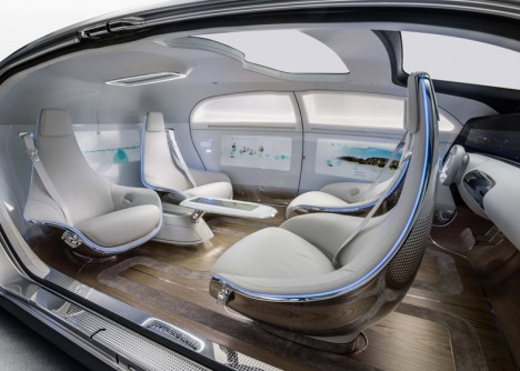 driverless car interior view
