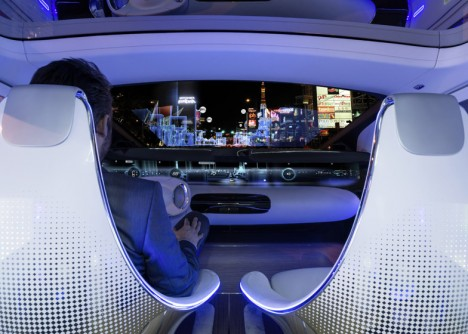 driverless car seating interface
