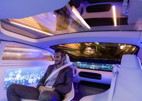 driverless car sitting relaxing