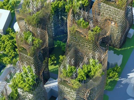 green bamboo wind energy