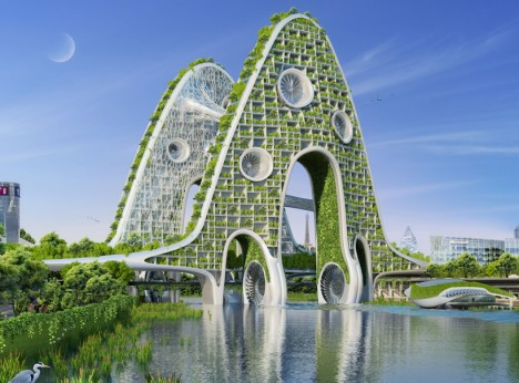 green future bridge architecture