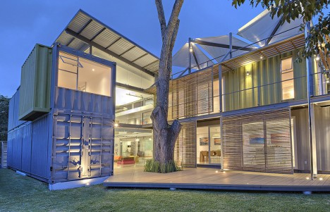 green home exterior containers