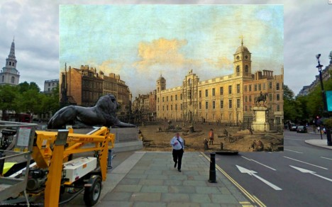 london then now painting
