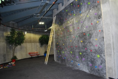 luxury silo climbing wall
