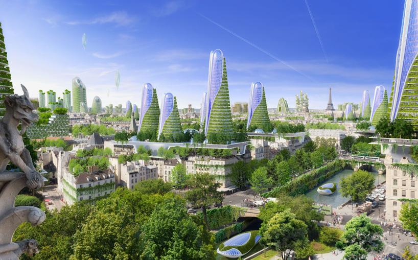 panoramic green city view
