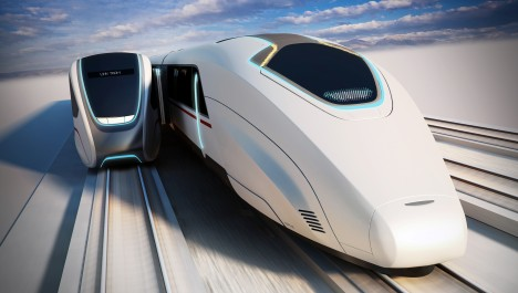 parallel docking bullet train