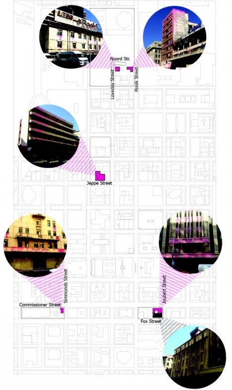 pink architecture site plan