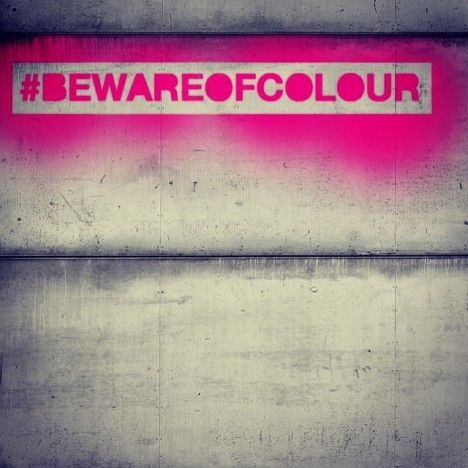 pink hashtag logo