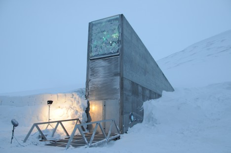 seed vault main entrance