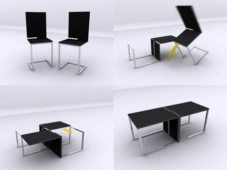 transforming tables 16 smart space saving surface designs urbanist. Black Bedroom Furniture Sets. Home Design Ideas