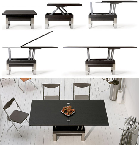 Coffee to Dinner Tables by Ozzio Design. transforming ... - Transforming Tables: 16 Smart Space-Saving Surface Designs Urbanist
