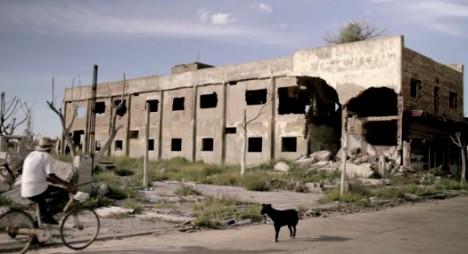 underwater deserted abandoned buildings