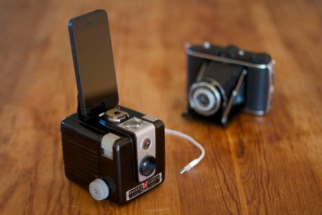 vintage camera iphone dock
