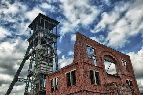 abandoned mine winding tower Belgium 1b