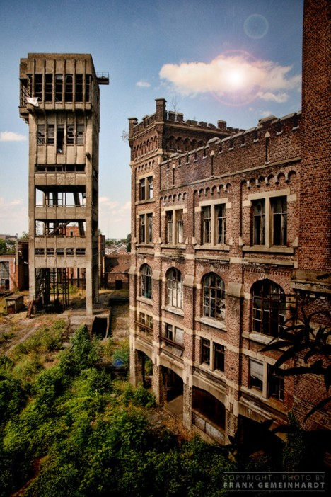 abandoned mine winding tower Belgium 5b