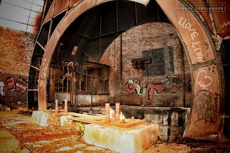 abandoned mine winding tower Belgium 5d