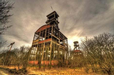 abandoned mine winding tower Belgium Zwei 7a