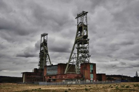 abandoned mine winding tower Clipstone 4b