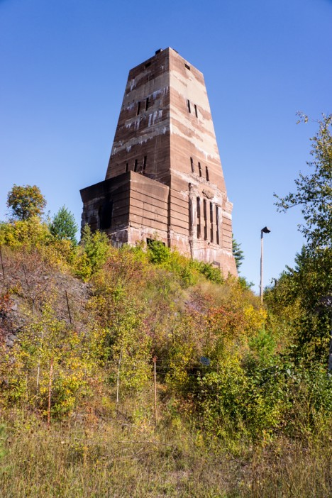 abandoned mine winding tower Michigan 2b