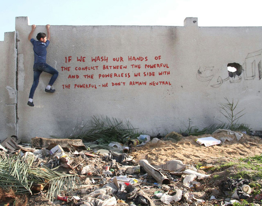 banksy gaza strip art