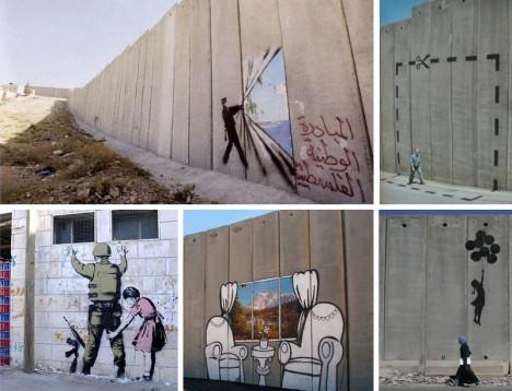 banksy palestine previous murals
