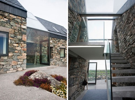 See through stone 13 aging structures with glass for Modern cottage house plans ireland