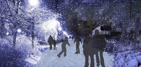 freezeway winter commuting skaters