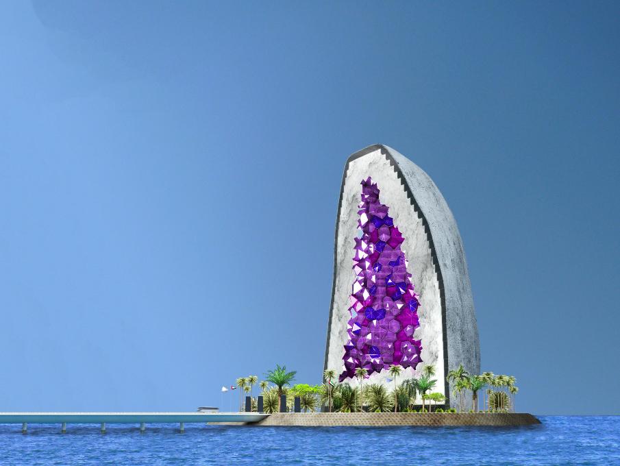 gemstone shaped hotel