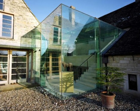 Glass Extension to a Private Farmhouse in Gloucester