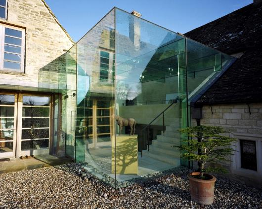 See through stone 13 aging structures with glass extensions urbanist - The chapel cottage historic vestige in contemporary lines ...