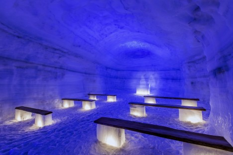 ice cave blue chapel