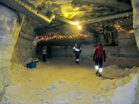 ice cave infrastructure