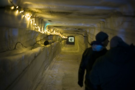 ice cave interior tunnels