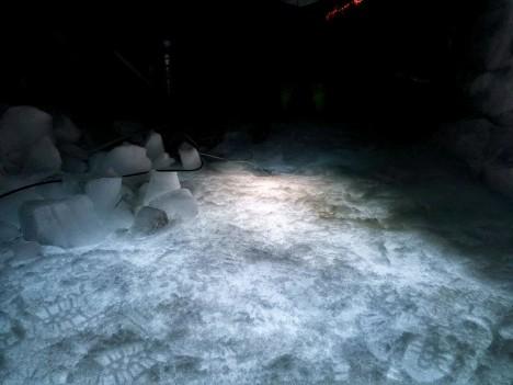 ice cave underground light