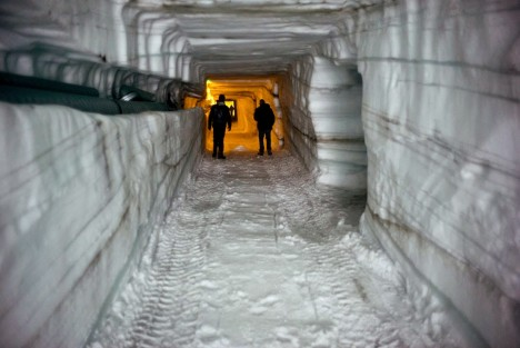 ice cave walls passageways