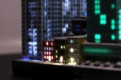 itty model lit up
