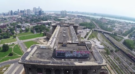michigan station detroit drone