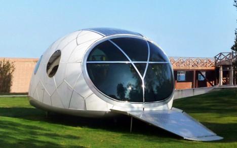 mobile office futuristic pod